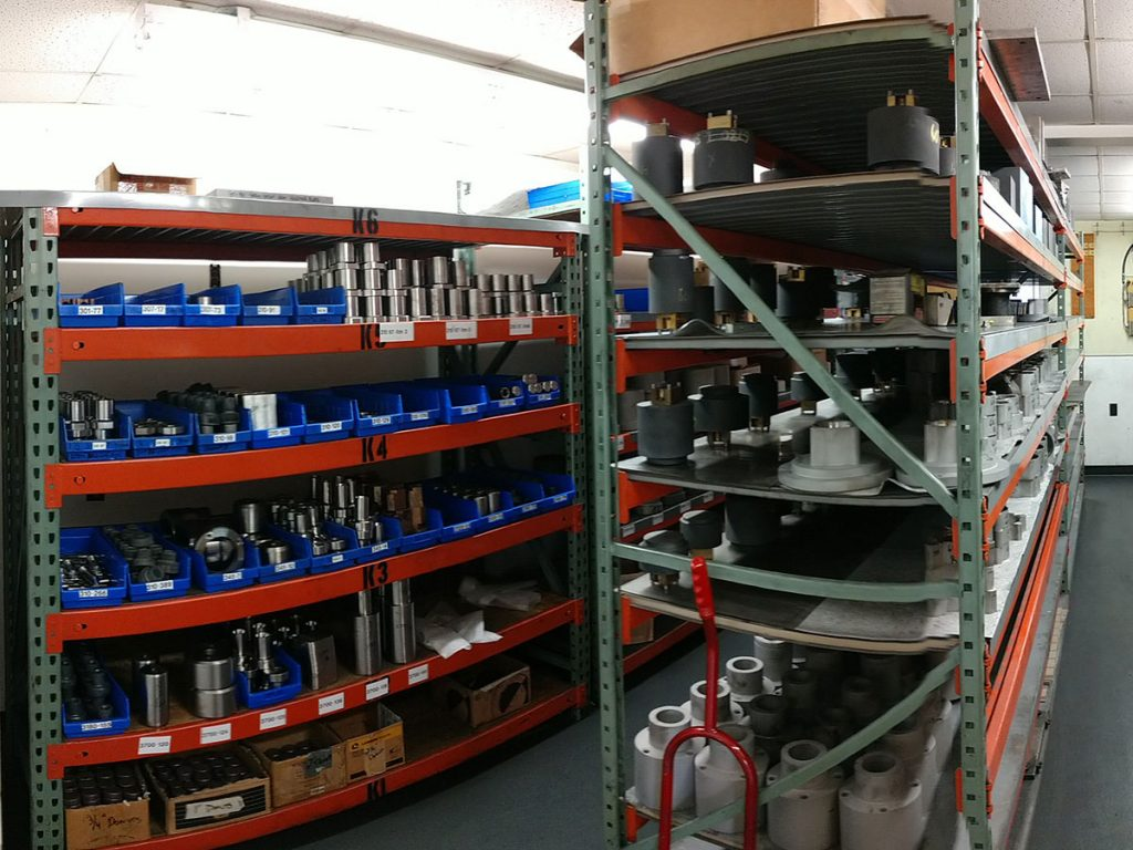 Industrial storage area professionally cleaned by Zehr Restorations