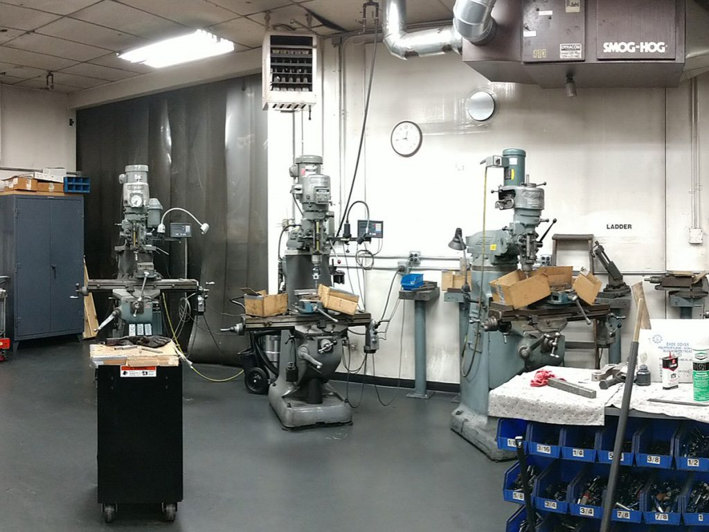 Industrial work area professionally cleaned by Zehr Restorations
