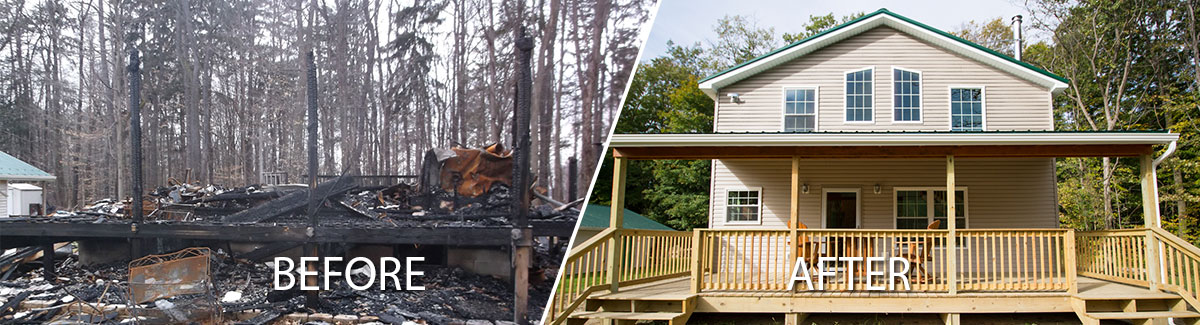 Complete fire damage restoration