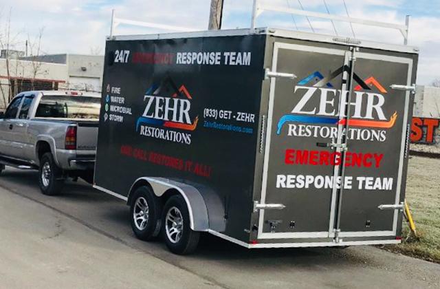 Zehr Restorations emergency response trailer